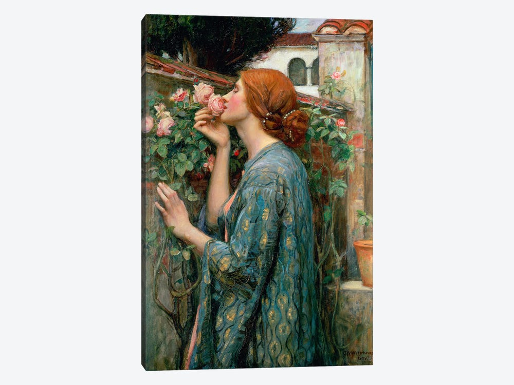 The Soul Of The Rose, 1908  by John William Waterhouse 1-piece Canvas Art Print