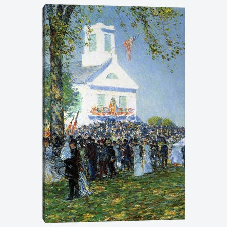 An American Country Fair, 1890  3-Piece Canvas #BMN4152} by Childe Hassam Canvas Artwork