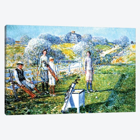 A Game of Golf, 1923  3-Piece Canvas #BMN4155} by Childe Hassam Art Print