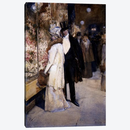 New Year's Nocturne, New York, 1892  Canvas Print #BMN4160} by Childe Hassam Art Print