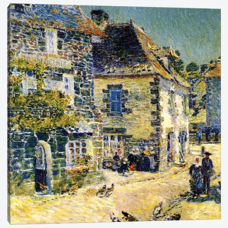 Pont Aven, Brittany, 1897  Canvas Print #BMN4165} by Childe Hassam Canvas Artwork