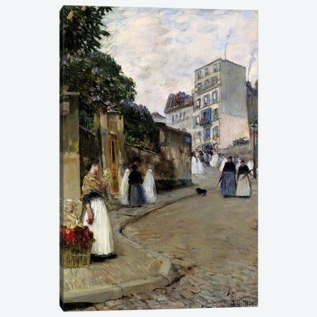 Montmartre, Paris, 1889  Canvas Print #BMN4169} by Childe Hassam Canvas Print