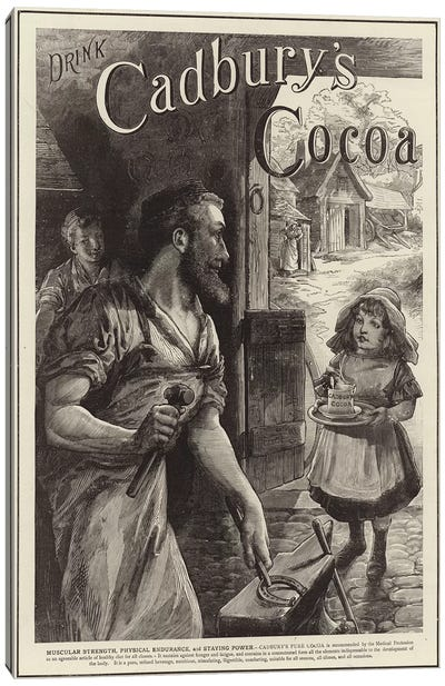 Advertisement for Cadbury's Drinking Cocoa  Canvas Art Print