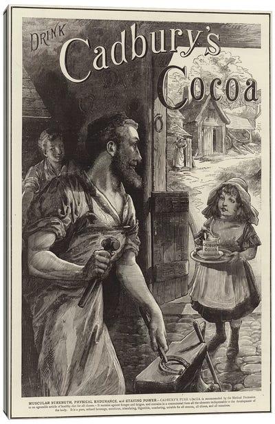 Advertisement for Cadbury's Drinking Cocoa  Canvas Art Print