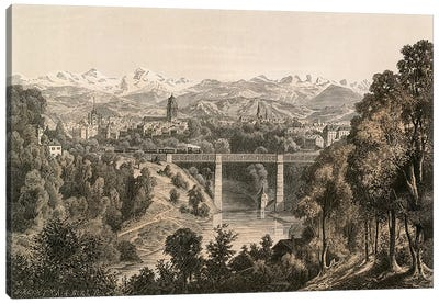 Berne and the Bernese Alps, from the Enge  Canvas Print #BMN4172