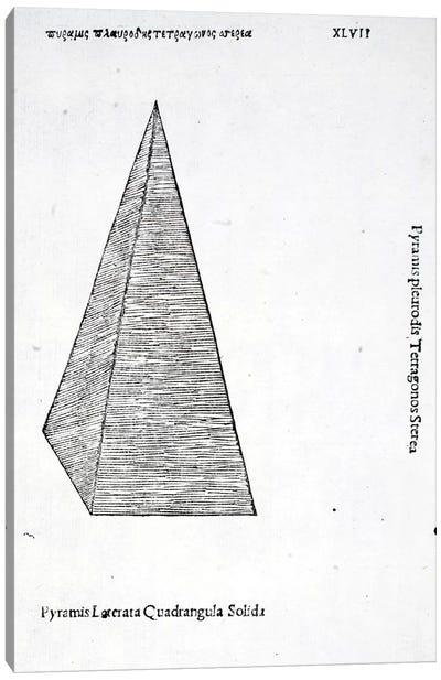 Pyramis Laterata Quadrangula Solida Canvas Art Print