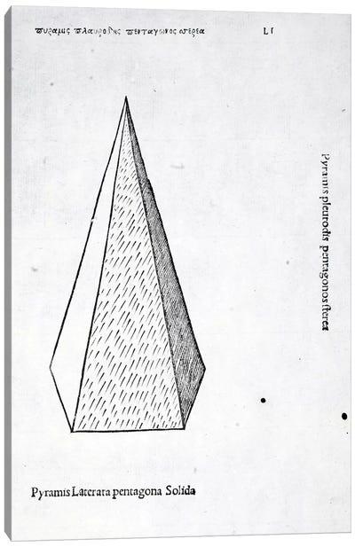 Pyramis Laterata Pentagona Solida Canvas Art Print