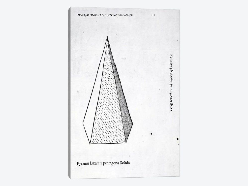 Pyramis Laterata Pentagona Solida by Leonardo da Vinci 1-piece Canvas Wall Art