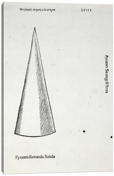 Pyramis Rotunda Solida Canvas Art Print