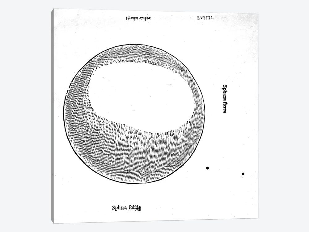 Sphera solida, illustration from 'Divina Proportione' by Luca Pacioli  by Leonardo da Vinci 1-piece Canvas Art