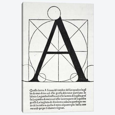 Letter A Canvas Print #BMN4189} by Leonardo da Vinci Canvas Print
