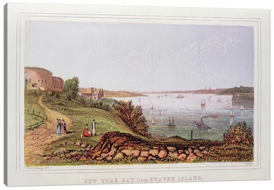 New York Bay from Staten Island, engraved by M. Kronheim and Co., London  Canvas Art Print