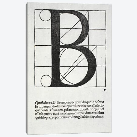 Letter B Canvas Print #BMN4190} by Leonardo da Vinci Canvas Artwork