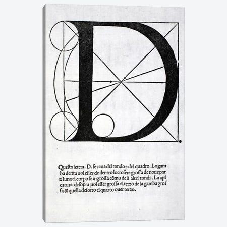Letter D Canvas Print #BMN4192} by Leonardo da Vinci Canvas Wall Art