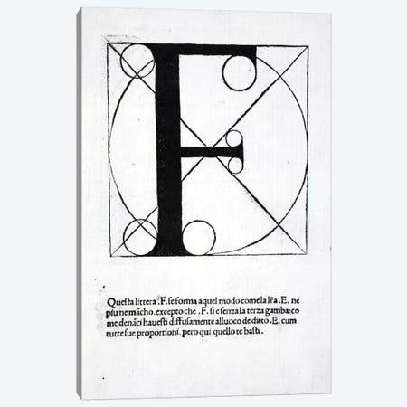 Letter F Canvas Print #BMN4194} by Leonardo da Vinci Canvas Art Print