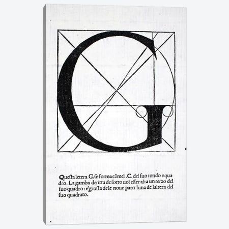 Letter G Canvas Print #BMN4195} by Leonardo da Vinci Art Print
