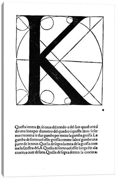 Letter K Canvas Art Print
