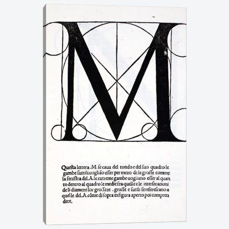 Letter M Canvas Print #BMN4199} by Leonardo da Vinci Canvas Artwork
