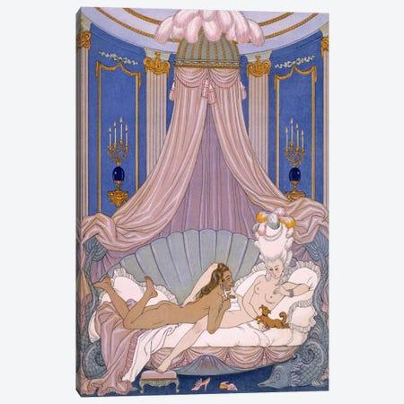 Scene from 'Les Liaisons Dangereuses' by Pierre Chodlerlos de Laclos Canvas Print #BMN41} by George Barbier Canvas Art
