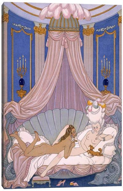 Scene from 'Les Liaisons Dangereuses' by Pierre Chodlerlos de Laclos Canvas Art Print