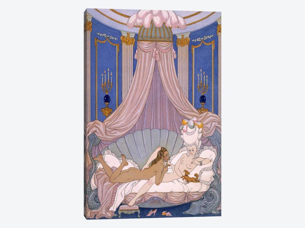 Scene from 'Les Liaisons Dangereuses' by Pierre Chodlerlos de Laclos by George Barbier 1-piece Canvas Print