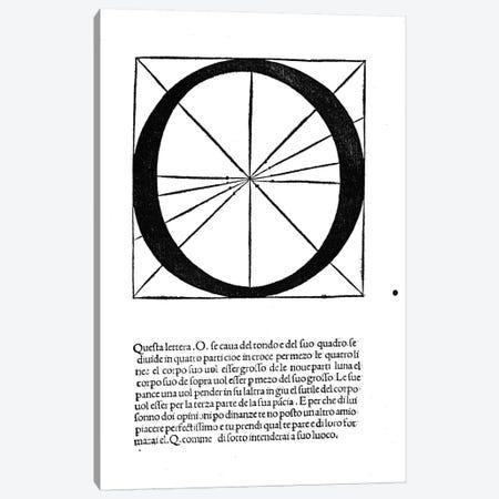Letter O (2nd version) Canvas Print #BMN4202} by Leonardo da Vinci Canvas Artwork
