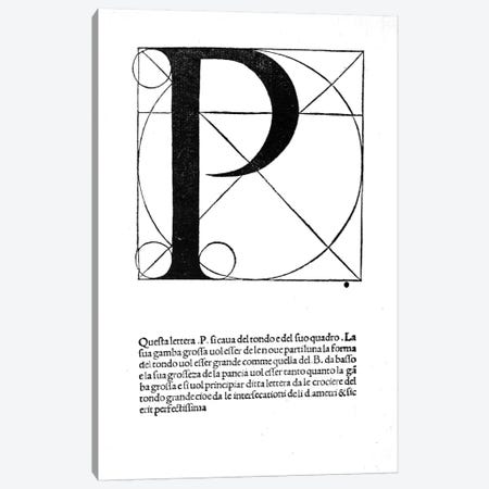 Letter P Canvas Print #BMN4203} by Leonardo da Vinci Canvas Wall Art