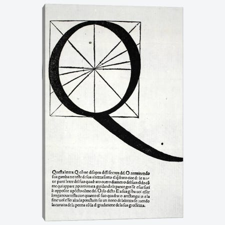 Letter Q Canvas Print #BMN4204} by Leonardo da Vinci Art Print