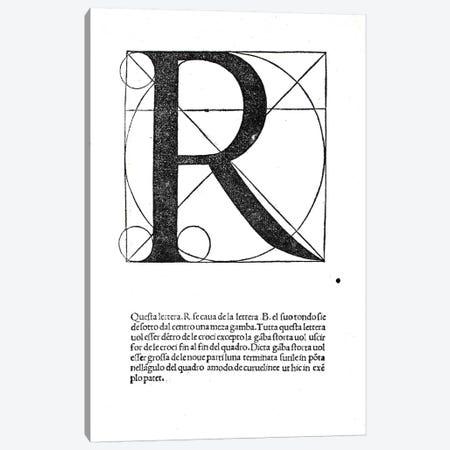 Letter R Canvas Print #BMN4205} by Leonardo da Vinci Canvas Print