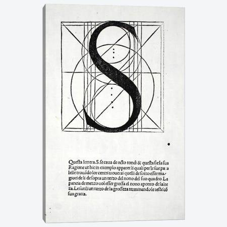 Letter S Canvas Print #BMN4206} by Leonardo da Vinci Canvas Print