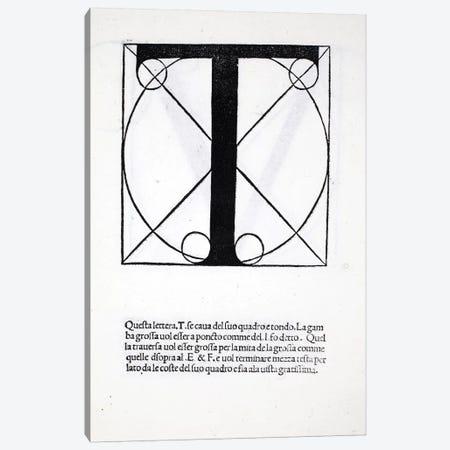Letter T Canvas Print #BMN4207} by Leonardo da Vinci Canvas Art Print