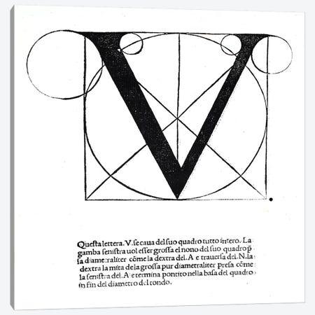 Letter V Canvas Print #BMN4208} by Leonardo da Vinci Canvas Art