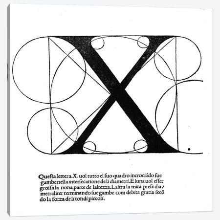 Letter X Canvas Print #BMN4209} by Leonardo da Vinci Canvas Wall Art