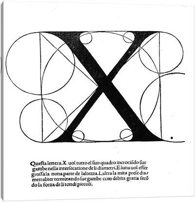 Letter X Canvas Art Print