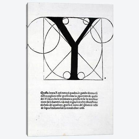Letter Y Canvas Print #BMN4210} by Leonardo da Vinci Art Print