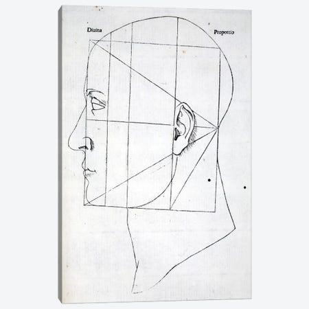 Illustration from 'Divina Proportione' by Luca Pacioli  Canvas Print #BMN4211} by Leonardo da Vinci Canvas Print