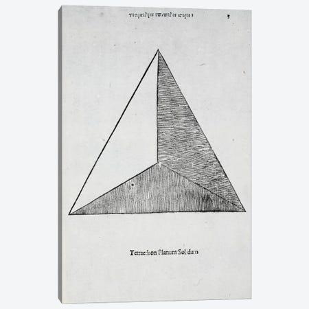 Tetraedron Planum Solidum Canvas Print #BMN4212} by Leonardo da Vinci Canvas Art Print