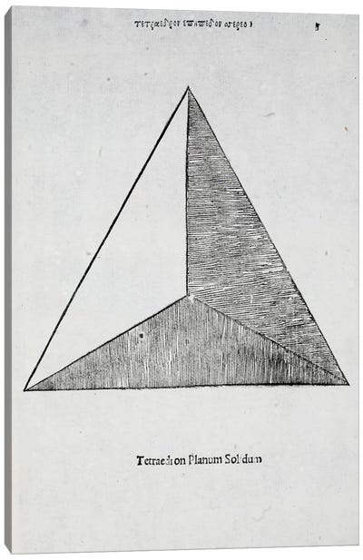 Tetraedron Planum Solidum Canvas Art Print
