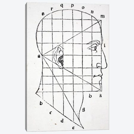 Illustration from 'Divina Proportione' by Luca Pacioli  Canvas Print #BMN4213} by Leonardo da Vinci Art Print