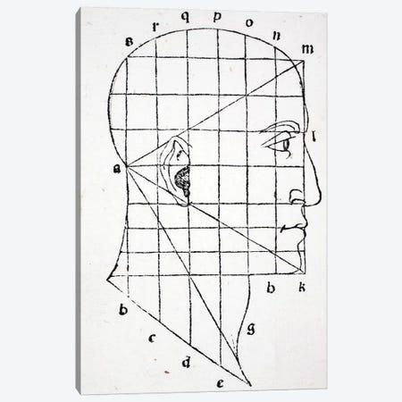 Illustration from 'Divina Proportione' by Luca Pacioli  Canvas Print #BMN4213} by Leonardo da Vinci Art Print