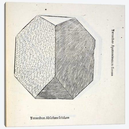 Tetraedron Abscisum Solidum Canvas Print #BMN4214} by Leonardo da Vinci Canvas Artwork