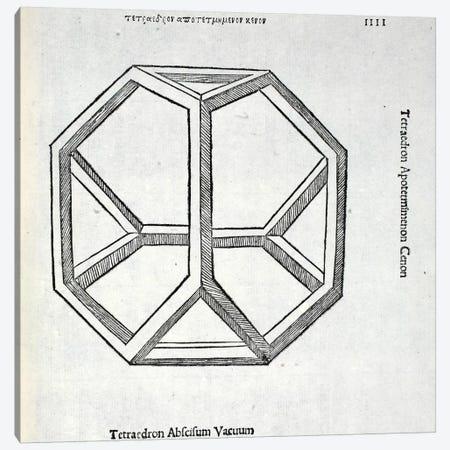 Tetraedron Abscisum Vacuum Canvas Print #BMN4215} by Leonardo da Vinci Canvas Art