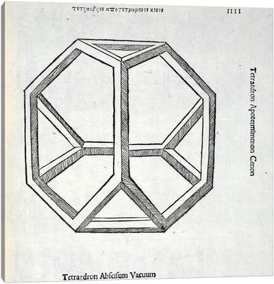 Tetraedron Abscisum Vacuum Canvas Art Print