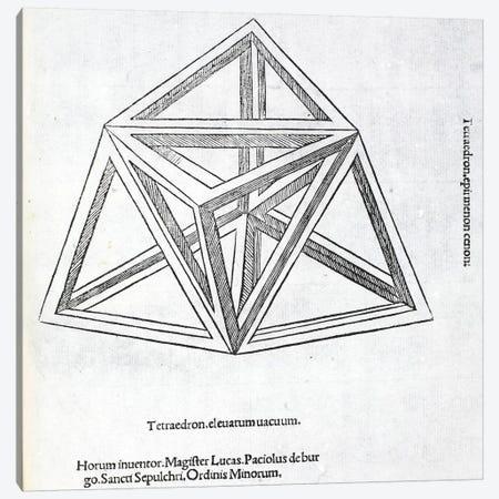 Tetraedron Elevatum Vacuum Canvas Print #BMN4216} by Leonardo da Vinci Canvas Artwork