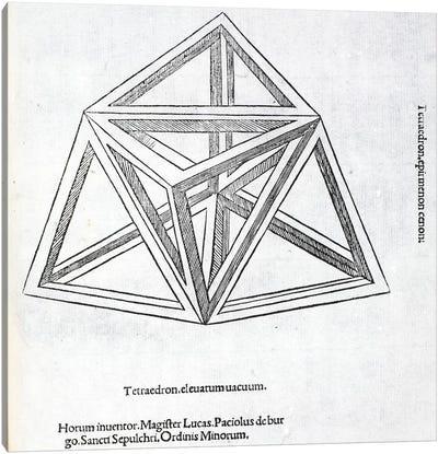 Tetraedron Elevatum Vacuum Canvas Art Print