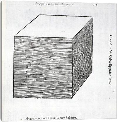Hexaedron Planum Solidum Canvas Art Print