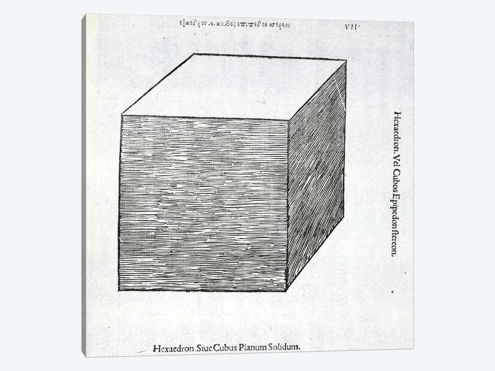 Hexaedron Planum Solidum by Leonardo da Vinci 1-piece Canvas Art