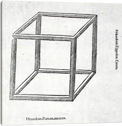 Hexaedron Planum Vacuum Canvas Art Print