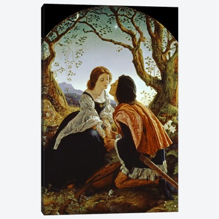 Hesperus, the Evening Star, Sacred to Lovers, 1855  Canvas Print #BMN421} by Sir Joseph Noel Paton Canvas Wall Art