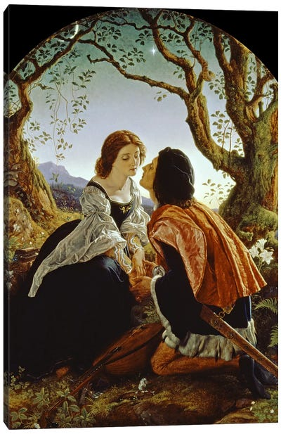 Hesperus, the Evening Star, Sacred to Lovers, 1855 Canvas Art Print